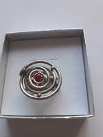Izraeli ezüst gyűrű, EGYEDI, gránáttal