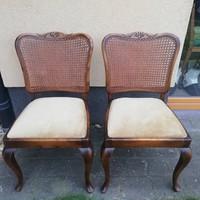 Neobarokk rattan székek párban