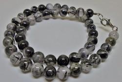 Gyönyörű rutil kvarc nyaklánc ezüst kapoccsal
