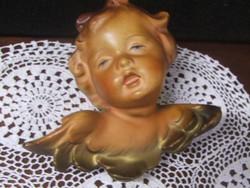 Friedel porcelán angyalka,puttó falidísz
