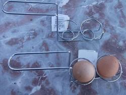 Új Krómozott tojástartó-lágytojás,főtt tojáshoz