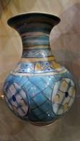 Gorka art deco kézzel festett kerámia váza