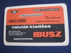 1965. Kártyanaptár - IBUSZ