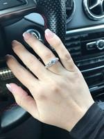 Ezüst gyűrű fehér   cirkón kővel