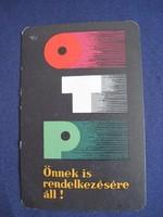 1965. Kártyanaptár - OTP