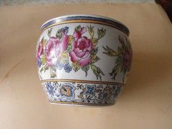Famille Rose antik kínai porcelán kaspo