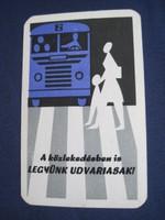 1965. Kártyanaptár - A Közúti Balesetelhárítási Tanács 1.