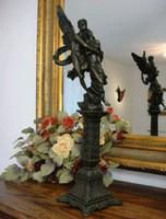 Amor és Psziche - mitológiai jelenetű - monumentális bronz szobor
