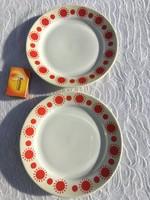 2 db retro Alföldi piros pöttyös kis tányér
