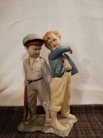 Nagyméretű gyönyörű porcelán fiúk!