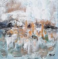 KÜLÖNLEGES AJÁNLAT! ELEGÁNS Modern szignózott eredeti absztrakt festmény, Közvetlen a művésztől!