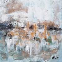 """""""Tükröződés"""" szignózott eredeti absztrakt festmény Közvetlen a művésztől!"""