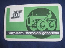 1965. Kártyanaptár - AGROTRÖSZT