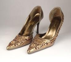 0V556 Flitteres Anne Michelle magassarkú cipő