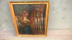 Csodás régi festmény, jelzett (Bakonyi)