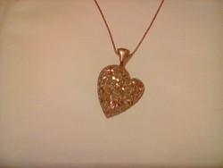 Csodaszép rose aranyozott ezüst nyaklánc+medál
