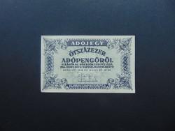 500000 adópengő 1946 Sorszám nélküli bankjegy