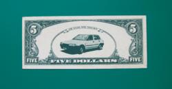 IBUSZ Sorsjegy 1988 - (Öt dollár)
