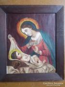 Mária a gyermekkel, olaj vászon,