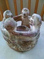 Azték terrakotta figurák