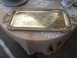 Gyönyörú régi hosszúkás bronz tálca