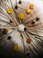 Csodaszép  maxi nyaklánc napsárga és arany  színekkel