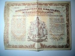Hadsegítési és Népjóléti Nyereménykölcsön A Magyar Szent Korona Országainak Népjóléti Egylete 1917