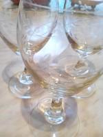 3 db. talpas boros kristály üvegpohár