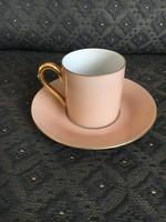 Antik, ritka formájú és színű Herendi kávés csésze aljjal
