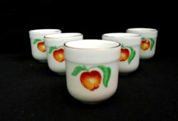 5 db Régi Alföldi porcelán kupica