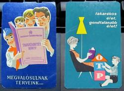 Kártyanaptár 1961 és 1962  /  OTP