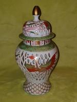 Antik Herendi áttört dupla falú urna ritka