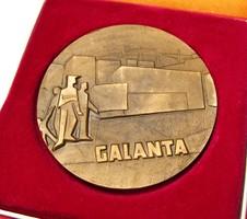 Szlovák emlékérem,Galanta.