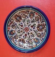 Akár egy perzsa mintás Zsolnay, Kerámia mandala tál (kör,teljesség, tökéletes forma),tányér,tányérka