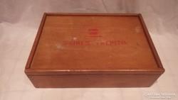 Régi Színes faépítő játék doboza