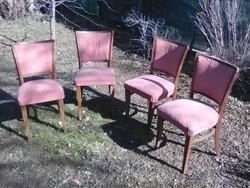 Art deco jellegű 1940-es évekből székek párnázottak 4db
