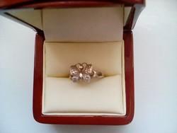 Lepkés ezüst gyűrű