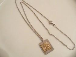 Perui ezüst medál lánccal