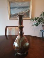 Extra különleges Zsolnay maratott eozin váza, gyönyörű, hibátlan
