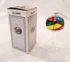 Olajlámpa, festett üveg