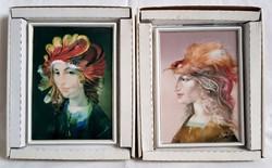 Szász Endre Hollóházi limitált porcelán falikép+Ajándék a másik zöld kép