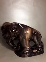 Eredeti Komlós Testvérek kerámia könyvtámasz elefánt 2 darab jelzett