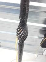 Antik kovácsoltvas állólámpa 160 cm magas - búra nélkül