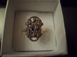 Antik arany gyűrű / gyémánt