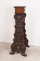 Barokk stílusú faragott fa posztamens