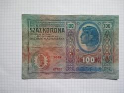 Nagyon szép 100 Korona 1912 !! Bélyegző D.Ö. ! !