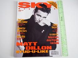 Sky magazin 1993/4 Matt Dillon Carre Otis Pearl Jam Gus Van Sant Richard Gere
