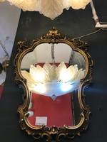 Aranyooztt keretes tükör