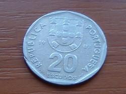 PORTUGÁLIA 20 ESCUDO 1987