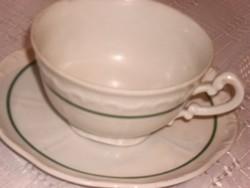 Zöld csíkos zsolnay teás csésze